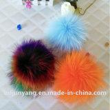Cappello reale POM POM Keychains della pelliccia POM del Raccoon dei capelli lunghi