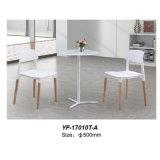 現代家具の緩和されたガラスの円形のコーヒーテーブル(YF-T17010)