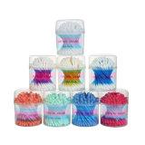 Cotonetes de algodão puros da vara plástica colorida que limpam os botões do algodão das pontas