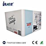 La maggior parte opuscolo popolare dell'affissione a cristalli liquidi da 7 pollici di video, video cartolina d'auguri, video libretto