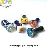 "3.6"" Face o sorriso de vidro inebriante Handpipe Bonitinha Cachimbos/ 420 fumo de tabaco"