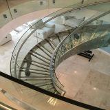 De madera personalizadas escalera de caracol escalera curvada