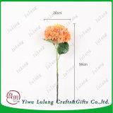 Flor artificial naranja Hortensia flores de seda para la decoración de boda