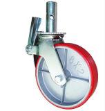 PU-Eisen-Kern-Rad-Hochleistungsbaugerüst-Fußrolle