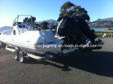 Liya 8.3m grand bateau gonflable bateau gonflable rigide en fibre de verre