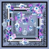 一義的なデザインデジタルによって印刷されるスカーフの正方形