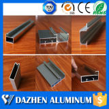 Perfil de alumínio para a porta de aço de cristal do armário do gabinete de cozinha com cores diferentes