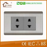 Aço inoxidável Metal 3pista 10A 220V interruptor elétrico