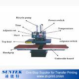 Estações dobro hidráulicas da máquina da transferência térmica para o t-shirt