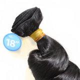 Человеческие волосы 100% Weave волос черноты йБ свободной волны естественные бразильские