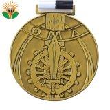 2018 Comercio al por mayor Diseñe su propia medalla estampado con cinta