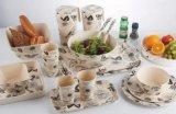 Canecas de bambu da fibra do Kitchenware biodegradável seguro não tóxico da máquina de lavar louça