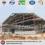 Stahlrahmen-Werkstatt mit Überhangs-Kabinendach