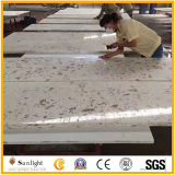 Personalizzare le parti superiori bianche di vanità dei controsoffitti della stanza da bagno della pietra del quarzo