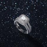 빛나는 다이아몬드 결혼 반지 925 은 순은 보석 (533683581982)를 가진 한 쌍을%s 영구히 사랑 보석