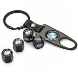 Firmenzeichen-Reifen-Stamm-Luft der Rad-Gummireifen-Ventilverschraubung-M bedeckt Keychain mit einer Kappe, das für BMW anredet