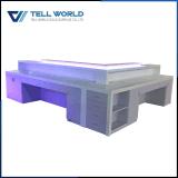 Modèle blanc moderne de bureau de compteur extra-long de réception