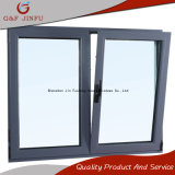 Finestra di girata di inclinazione ricoperta potere di alluminio con doppio vetro Tempered