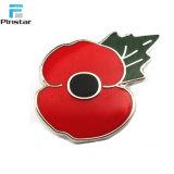 BRITISCHE Markierungsfahnen-rotes Mohnblume-Metalldecklackvespa-Rollerpin-Abzeichen