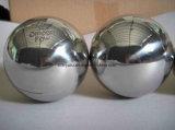 SS304 Profils Creux en acier poli miroir de billes de métal 25mm avec une épaisseur 0.5mm