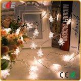 Lumières de voyants LED Chaîne de feux clignotants d'étoiles de la série de petites lanternes de neige les lumières de Noël le commerce de gros