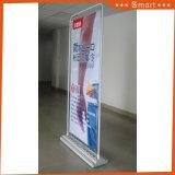 旗の立場を広告するリサイクルされた屋外のフロアーリングの立場のドアの形