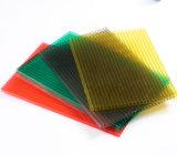 folha oca Anti-Fog colorida 8mm do PC do policarbonato de Twinwall para a estufa
