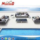 Роскошный открытый синтетический плетеной удобный диван, подходит для отдыха яхт проектов