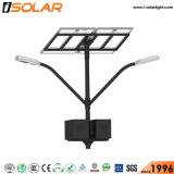 Brazo de doble lámpara de LED 100W de luz de la calle de Energía Solar