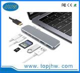 7 Concentrateur USB multi-port / commutateur / Adaptateur avec chargeur de type C