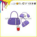 Pvc USB van de Stok van het Geheugen van de Aandrijving van de Flits van de Handtas 4GB USB van de dame