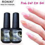 Roniki doorweekt van het Roze Gel van het Oog van de Kat UV/LED