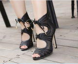 Mode de vente chaude haut talon Chaussures de maillage