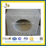 Marmeren Countertop van Carrara van Bianco voor de Zaal van het Bad