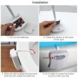 8 Farben-Karosserie, die Nachtlicht-Toiletten-Filterglocke-Lampe des Bewegungs-Fühler-automatische LED erfasst