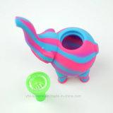 Nuevo diseño Lindo Estilo de elefantes de tuberías de agua de silicona de alta calidad botella lavagases fumar