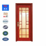 木製フレームの気性のガラス葉の内部の純木のドアSwVA002