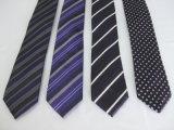 Moda masculina de cor escura Gravatas tingido de Fios