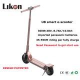 8 pouces pliée rapide du système de double absorption des chocs et oxydation anodique Wearproof scooter électrique en scooter de gros prix.