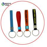 Tira de chaves de silicone de impressão personalizado com alça de borracha curto Keyring