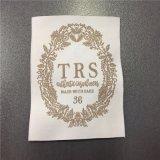 Exquisito Material personalizado de poliéster de alta densidad de etiquetas tejidas ropa etiqueta ropa de etiqueta