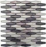 Flaches sechseckiges Glasmosaik für Haupthotel-Wand-u. Fußboden-Dekoration