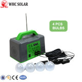Solar 10W Sistema de energía de carga de la iluminación del hogar