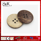 衣類のための自然なボタンのココナッツボタンの4つの穴の別のサイズ