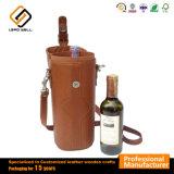 Imballaggio di cuoio di lusso del vino di Champagne del Faux del Brown