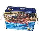 Coloque la parte superior de alta calidad de papel ondulado caja de embalaje para el camarón