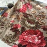 Veludo de poliéster impresso Floral de malha produtos têxteis