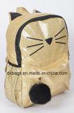 Zaino scintillante del gattino, sacchetto sveglio di Charater del gatto