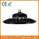 2018 Nuevo diseño LED UFO 100W de la Bahía de alta para talleres