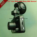 Automobile privata 2.7inch DVR GPS di OEM&ODM che segue la macchina fotografica dal playback del Google Map, magnetoscopio di Digitahi del sensore di 5.0mega SONY, scatola nera di parcheggio DVR-2708 del precipitare di controllo